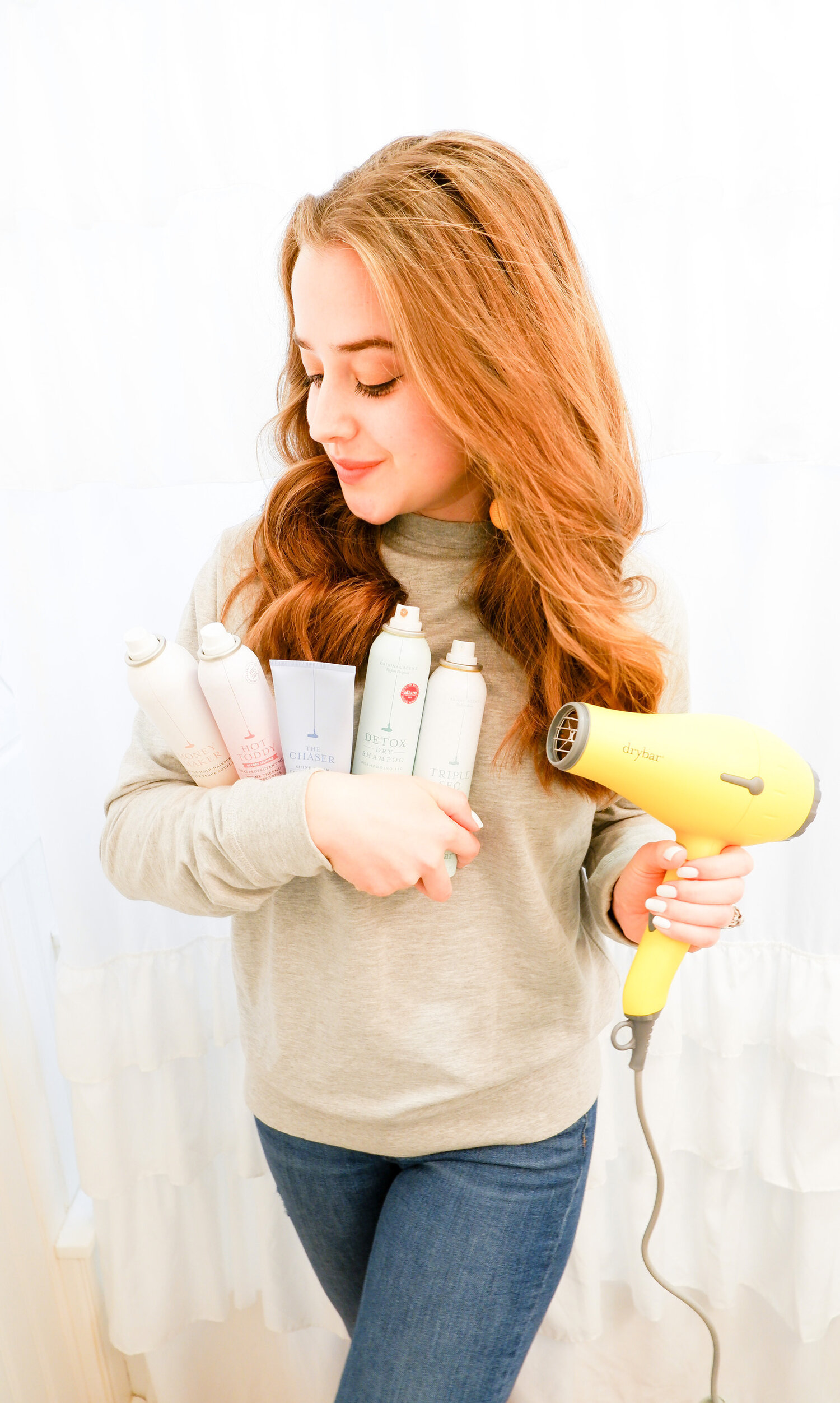 DIY DryBar / / How To Blowout Your Hair At Home For Virtual Happy Hour