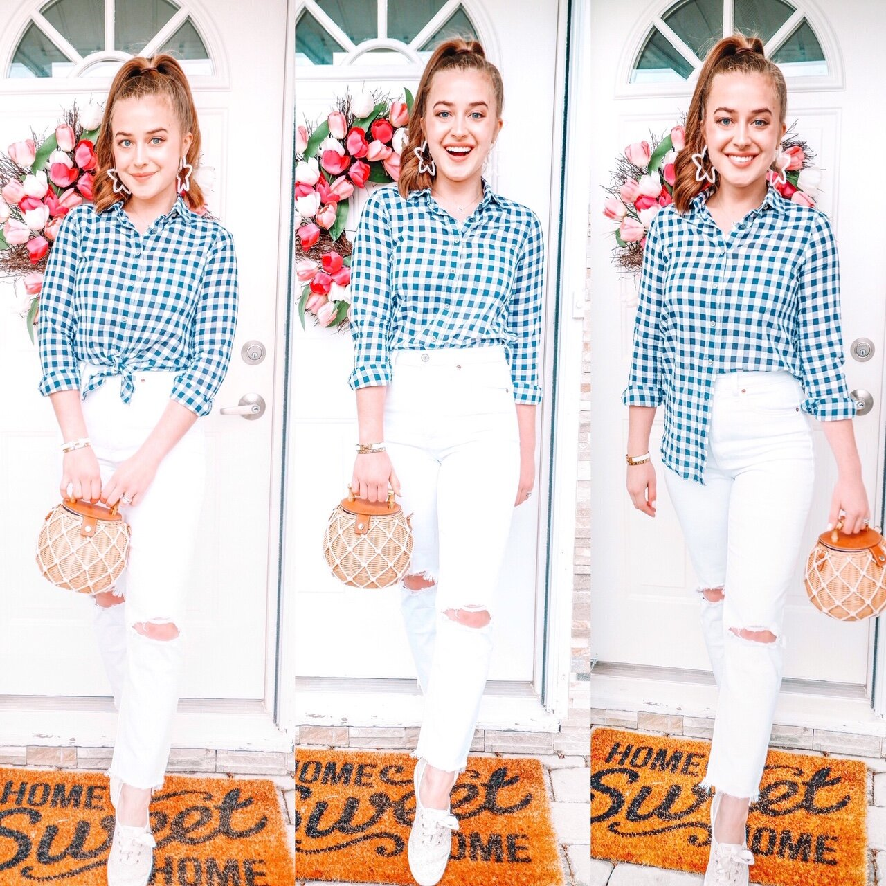 One Outfit Three Ways / / Everyday Preppy Spring Look